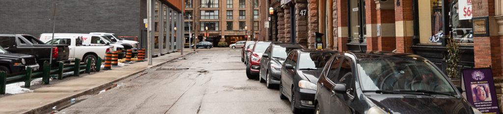 Street parking in Downtown Toronto
