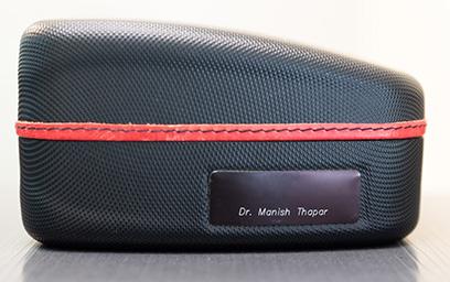 A Toronto dentist's black briefcase