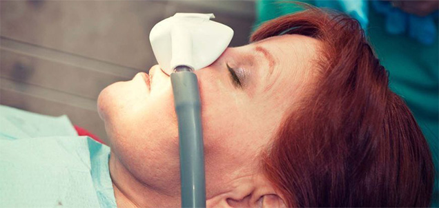 Red-haired patient under conscious sedation